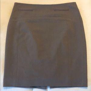 Express pencil skirt (gray/brown)